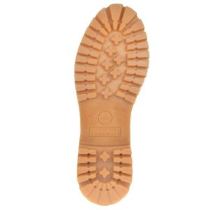 The lug sole of the classic Timberland.