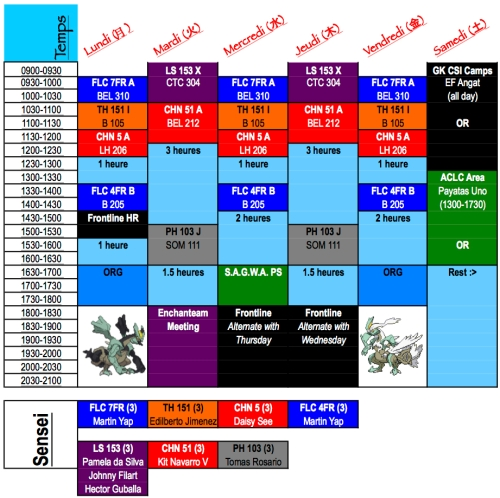 Schedule copyright 2012 Allister Roy S. ChuaBlack Kyurem and White Kyurem images taken from Bulbapedia