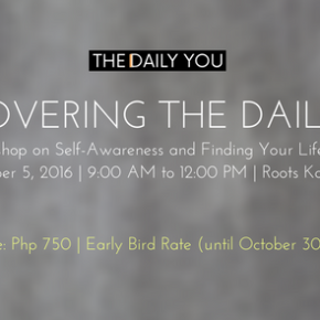 Announcing: Discovering the Daily Me on 5 November2016