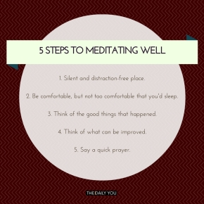 [TDY 5] 5 steps to meditating well